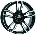 литые диски Alutec Drive Diamond Black Front Polished 7,5*17 5/120 ET 32 d72,6