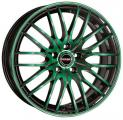 литые диски Borbet CW4/5 Black Green Glossy