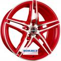литые диски Borbet XRT Red Polished 8,0*18 5/112 ET 45 d72,5